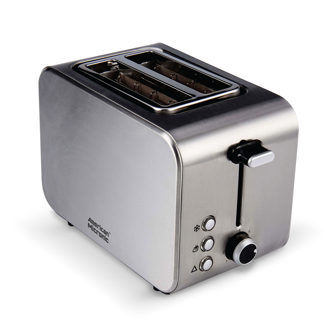 2 Slice Full Stainless Steel Pop up Toaster - American Micronic India
