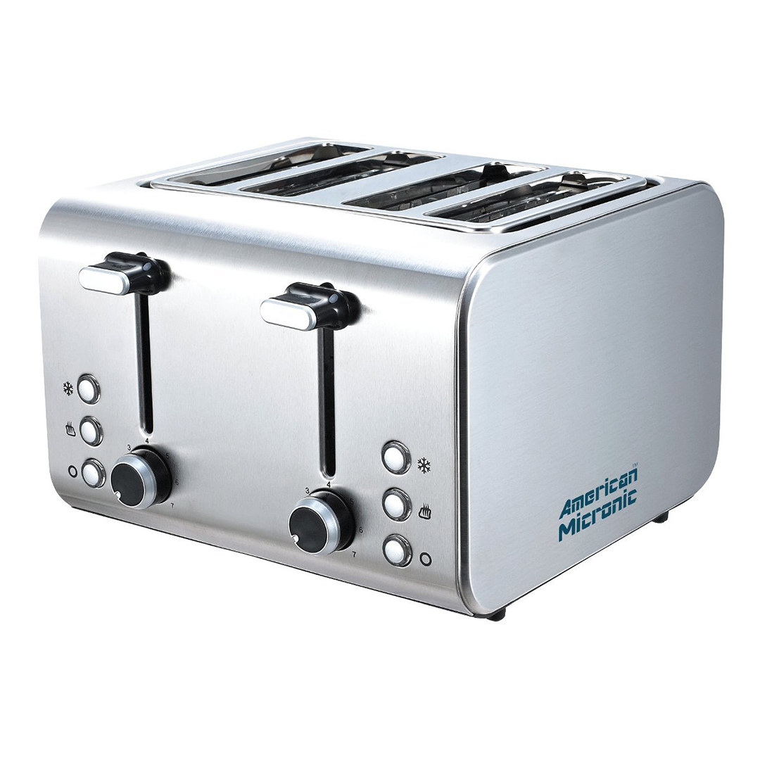 American Micronic India - 4 Slice Imported Stainless Steel Pop up Toaster
